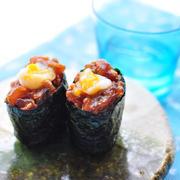 おうちでお寿司屋さん♪トッピング色々「軍艦巻き」レシピ