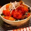 タッカルビ丼【鶏肉と野菜の甘辛炒め】&ぶたうさぎ♪ by とまとママさん