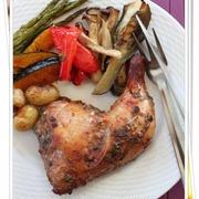 厚い肉でも生焼けの心配なし!鶏もも肉のオーブン焼き