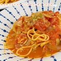 【洗い物をなるべく出さない!】フライパンひとつで作る!簡単トマトソースのワンポットパスタ【手軽にランチ】