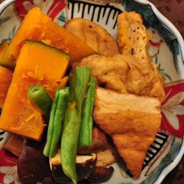 かぼちゃとがんも(厚揚げ)の煮物 & 記念日