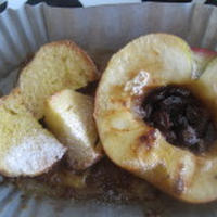 レンジで焼きリンゴとフレンチトースト♪