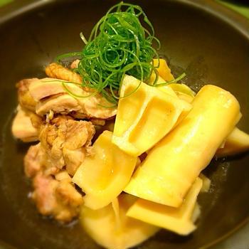 淡竹(はちく)と炙り鶏の旨煮