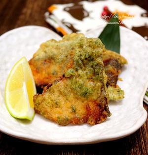 《レシピ》鰤の磯辺天ぷら・レモン風味。