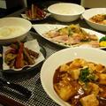 和風マーボー豆腐とブリ大根な和風カルッパチョ定食〜私の創作料理〜 by lakichiさん