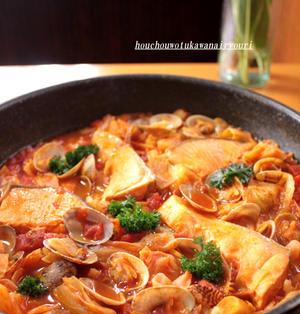 週末家バル★キャベツのトマト鍋 プロヴァンスのロゼでどうぞ 《包丁を使わない料理》