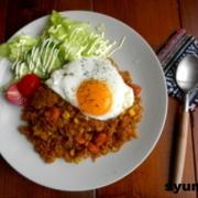 【簡単!!カフェごはん】サバの煮つけと炊き込みご飯の和定食