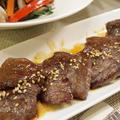【韓国料理】「自家製焼き肉のたれ☆牛カルビ焼き」&本格チャプチェ&わかめと新玉ねぎのチョレギサラダ。 by きちりーもんじゃさん