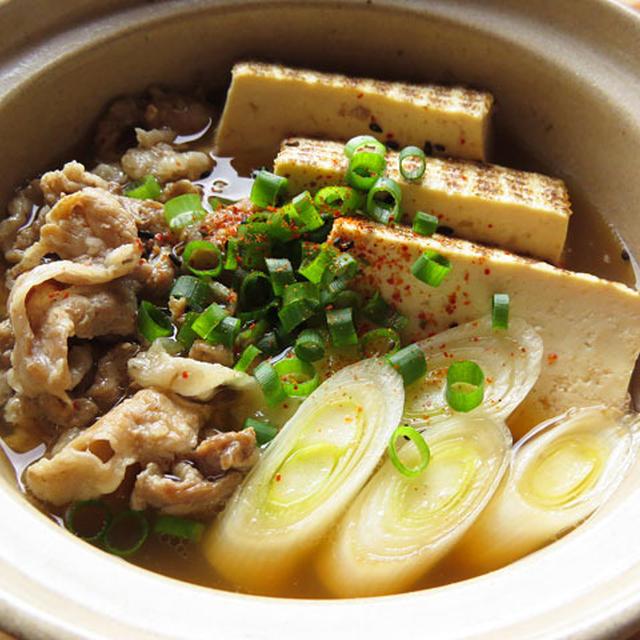 一人用土鍋で肉豆腐♪
