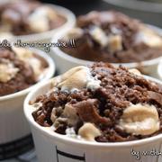 ダブルチョコレート・カップケーキ♪とろけるマシュマロトッピング☆