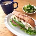 アボカドとモッツァレラチーズのバゲットサンド(朝食2015.7.25)