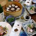◆カンパチの椎茸シュウマイと昆布締めのおうちごはん♪~ゆるやか糖質制限中♪