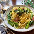 ♡ウインナーとつるむらさきのコンソメバター醤油パスタ♡【#簡単レシピ#時短#節約#麺#スパゲティ#お昼ご飯】