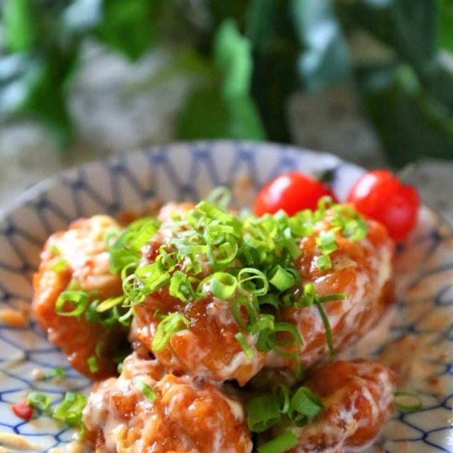 【コストコ★レシピ】さくらどりもも肉を使って~鶏ねぎチリマヨ和え~