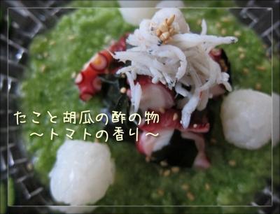 たかが酢の物?!されど♪胡瓜と蛸の酢の物 と イカのポルぺッティーネ