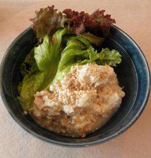 絹ごし豆腐とシーチキンのマヨわさ丼