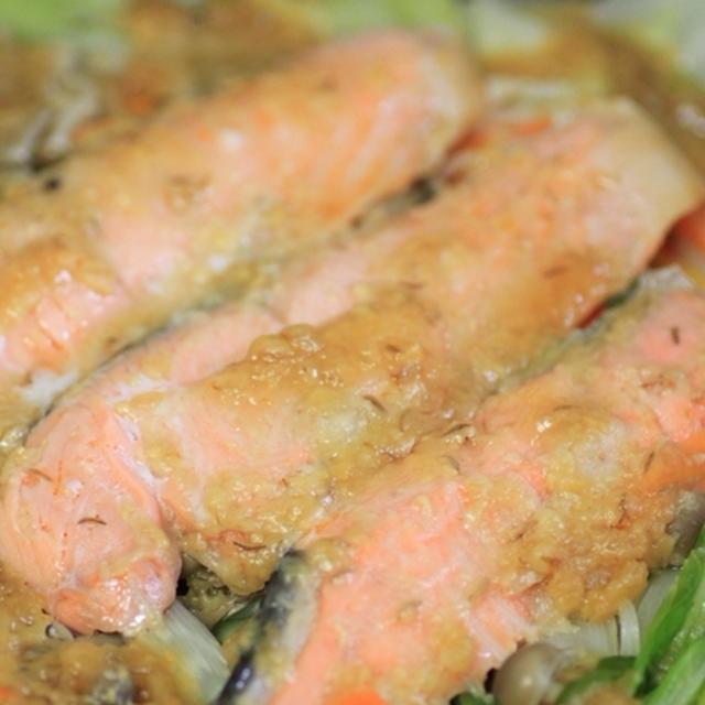 鮭のちゃんちゃん焼き☆柚子風味