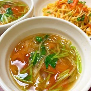 切干大根とトマトのスープ