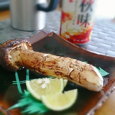 ご立派な松茸を網焼きで!!そして松茸ご飯に!ヤバい旨すぎる~
