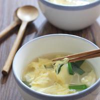 餃子の皮がおいしい中華スープ