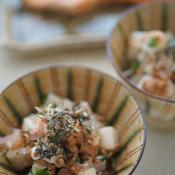簡単小鉢レシピ!長芋と納豆の梅しそ和え
