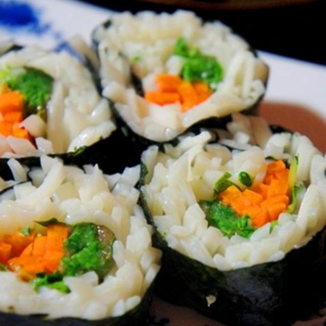 そうめん寿司はじめました。梅香る素麺寿司、おからの大葉味噌焼きで七夕呑み……