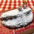 雪降り続けています★&ホットケーキミックスのシュトーレン
