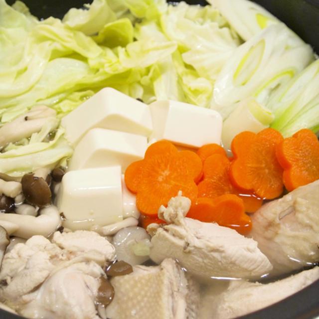 【お鍋】話題のレシピ入り感謝☆「鶏肉ホロホロ♪鶏の水炊き」で晩ごはん。