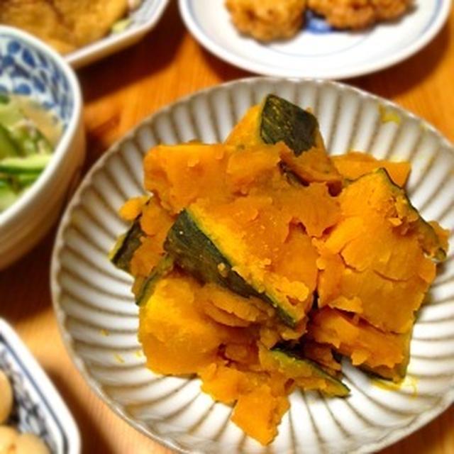 ☆電子レンジで時短、南瓜の煮物