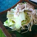 しゃきしゃきレタスと豚しゃぶのサラダ