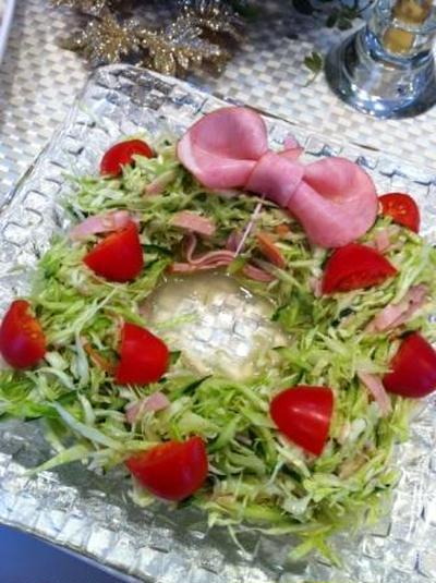 クリスマス☆簡単リースサラダ