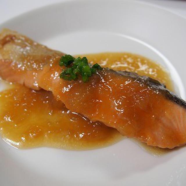 鮭のおろし玉ねぎ煮