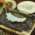 生たこ(冷凍のたこしゃぶ用のたこ)の炭火焼
