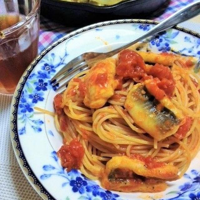 アナゴのトマトパスタ