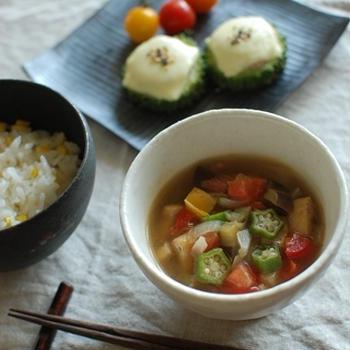 具沢山☆夏野菜の和風スープ