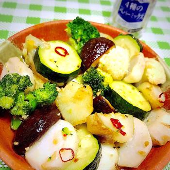 お野菜アヒージョ。
