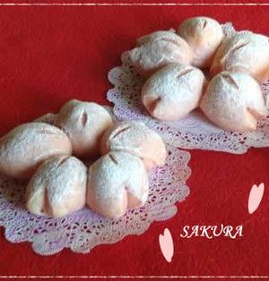 開花宣言目前☆ほんのりピンクの桜パン