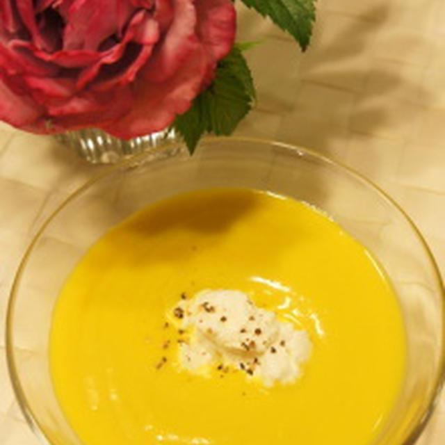 ぽってりかぼちゃの食べるスープ