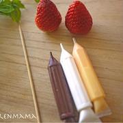 苺とチョコでサンタさんの作り方