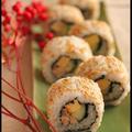 おせち料理リメイク♪伊達巻き寿司と黒豆蒸しパン