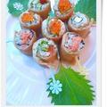 **クルクルいなり寿司のお花畑**