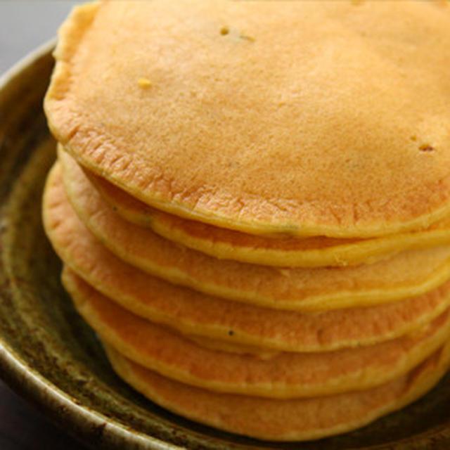 豆乳南瓜ホットケーキで朝ごはん