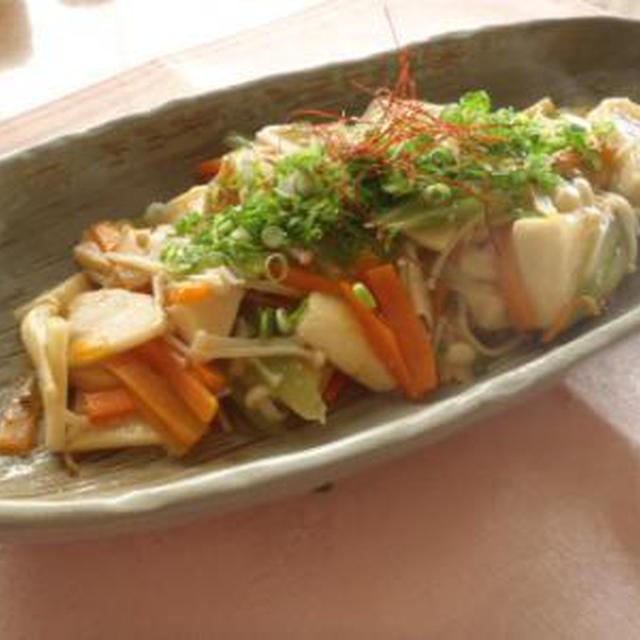 筍と豆腐のトウバンジャン炒め