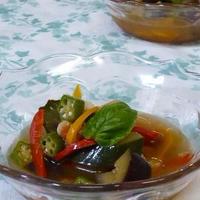 夏野菜たっぷり冷製スープ