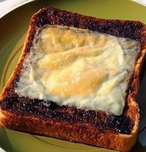 *くせになる♪海苔の佃煮チーズトースト*