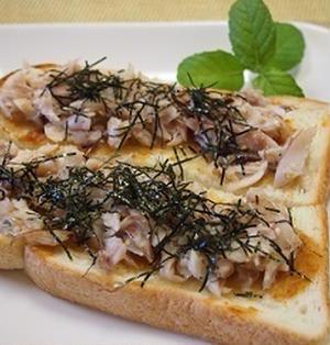 みそバター鯵の開き☆和風トースト