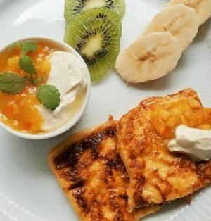 オレンジと蜂蜜のフレンチトースト