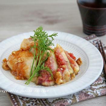 鶏肉といちじくの味噌ソテー