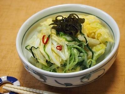 エコレシピ♡ポリ袋で簡単!白菜の浅漬け