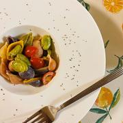 【レシピ】イカの塩辛瓶詰めとそら豆のクリームパスタ 在庫の瓶詰め消費レシピ